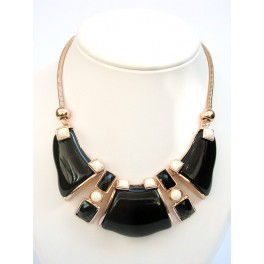 collier noir rt or